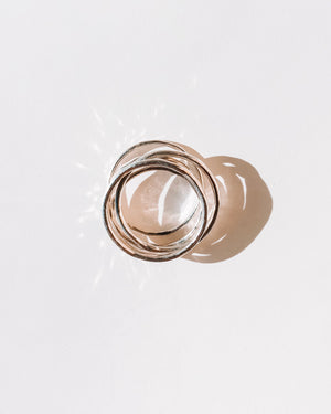 Jaggy silver ring
