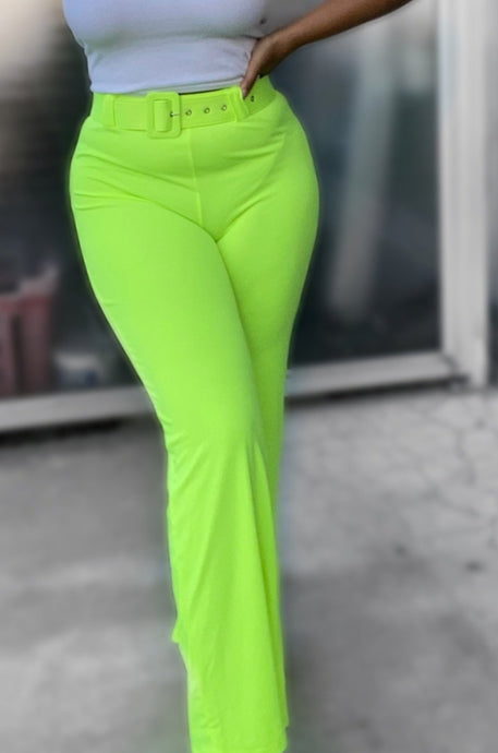 Neon Highwaisted Pants