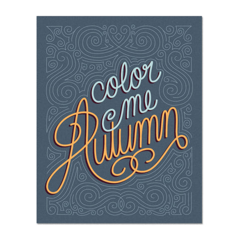 Color Me Autumn Print