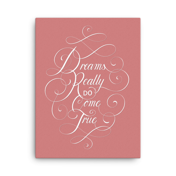 Dreams Canvas - Pink