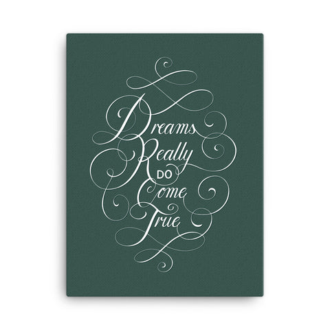 Dreams Canvas - Green