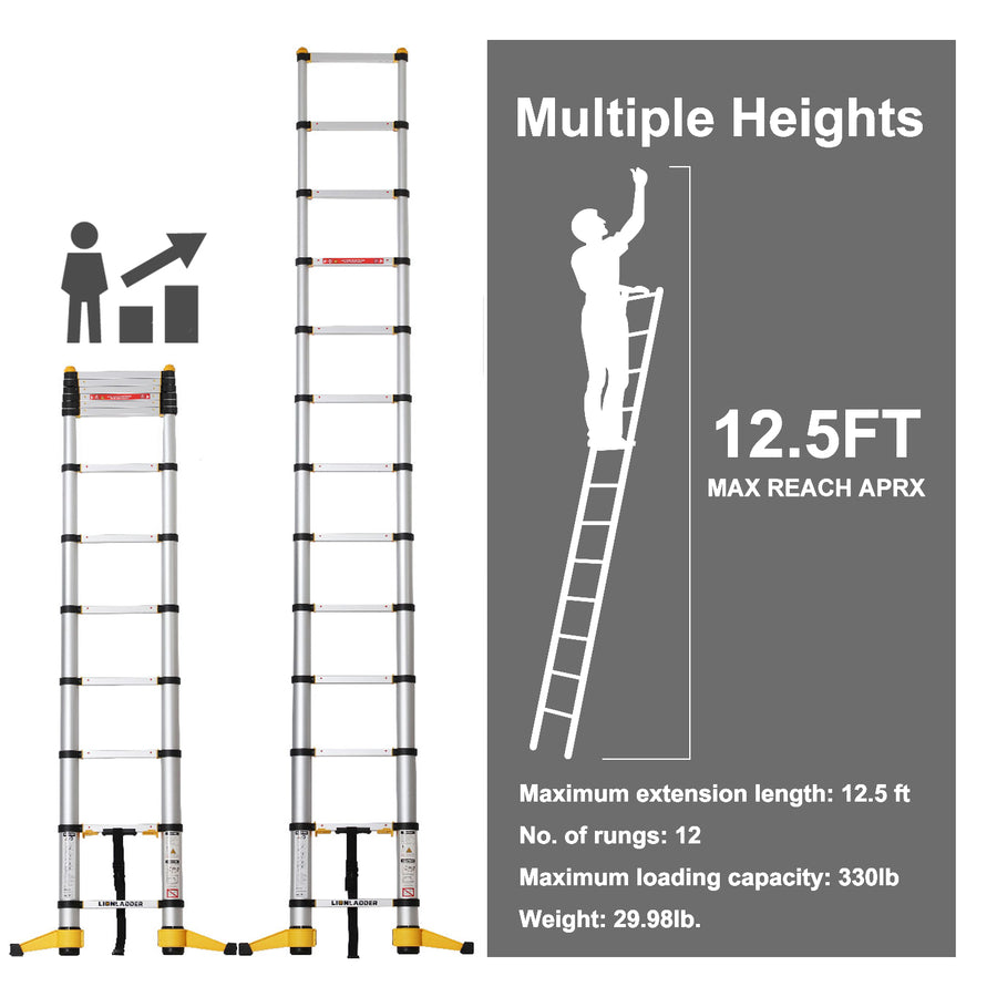 Lionladder 12.5FT New Pro Telescoping Ladder