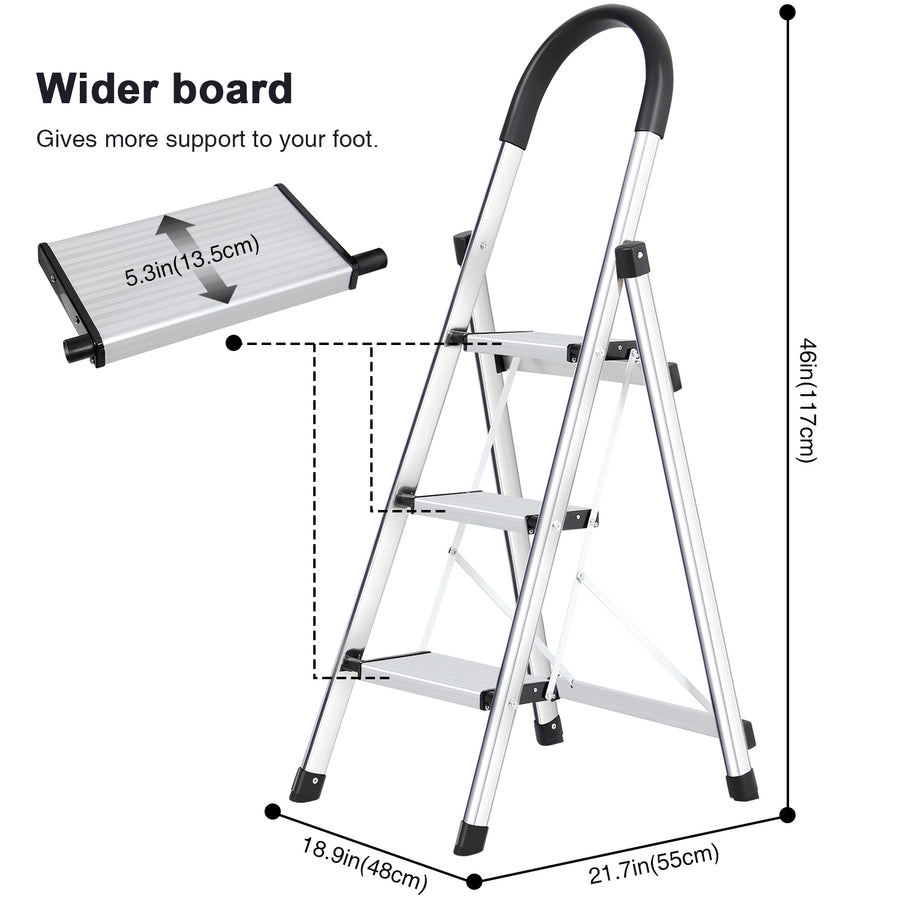Lionladder Stepladder 3 Steps Black