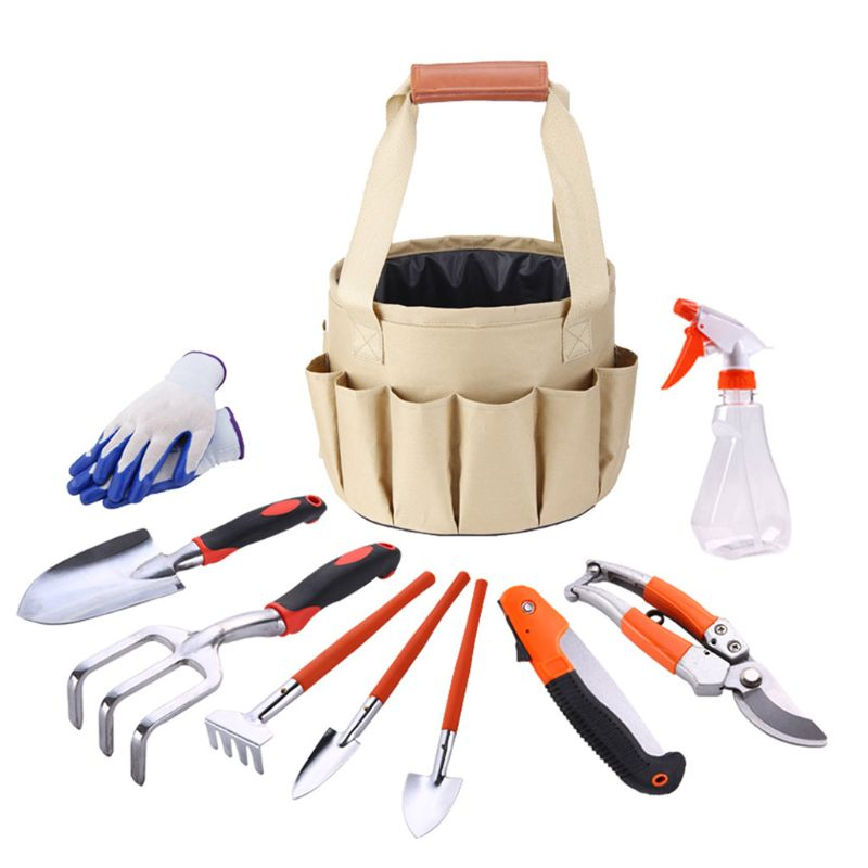 10 Pcs Multi-Functional Garden Tool Set