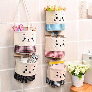 Cotton Linen Wall Hanging  Organizer for Cosmetics