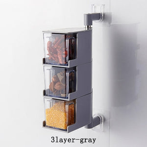 Acrylic Rotatable Kitchen Spice Storage Container