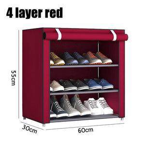 3/4/5/6 Layer Stainless Steel Shoes Shelf
