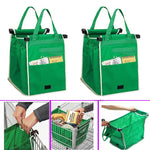 Green Foldable reusable shopping bag