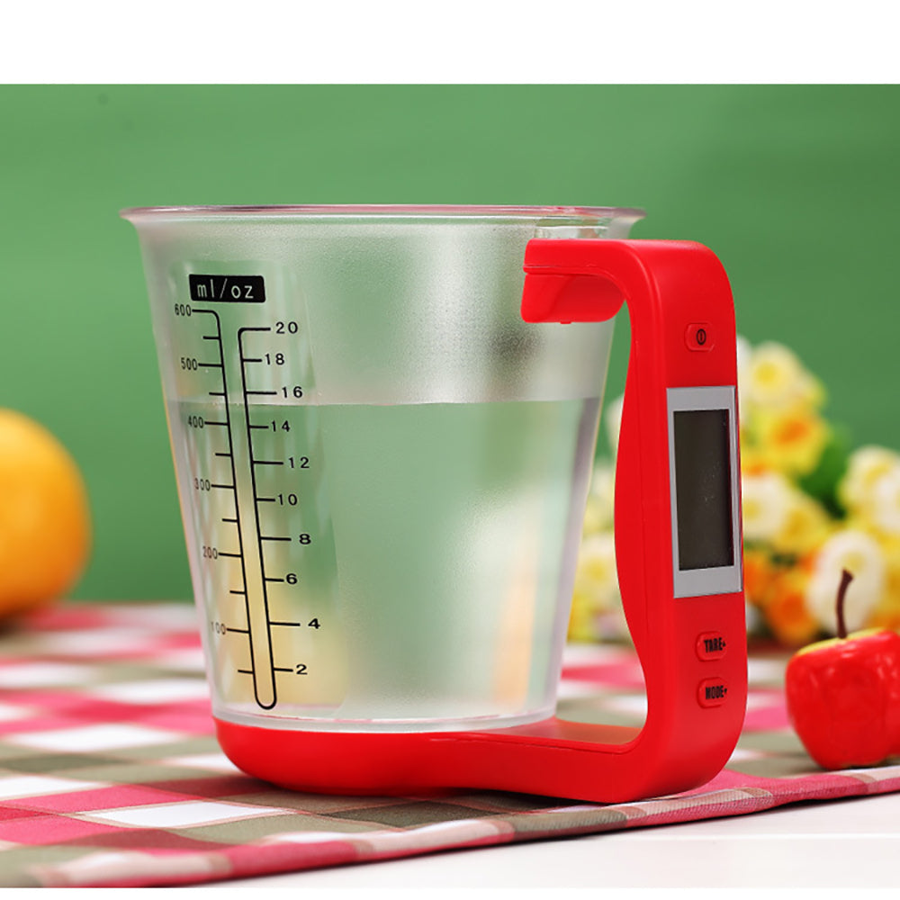 Digital Kitchen Scales - LCD Display Temperature Measurement Cups