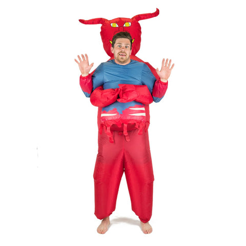 Costume de diable gonflable pour adulte