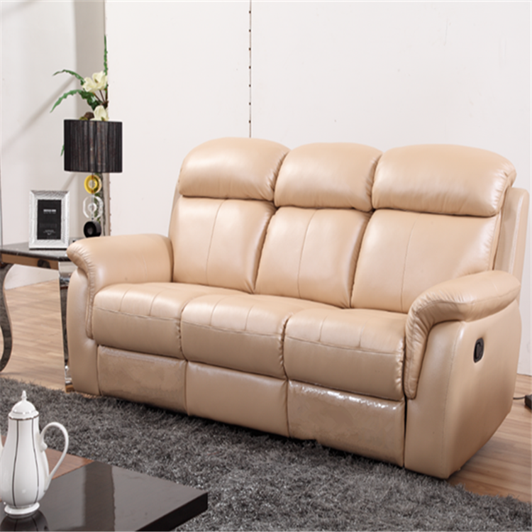 Leather recliner furniture electric control electric cinema recliner  genuine modern leather sofa set