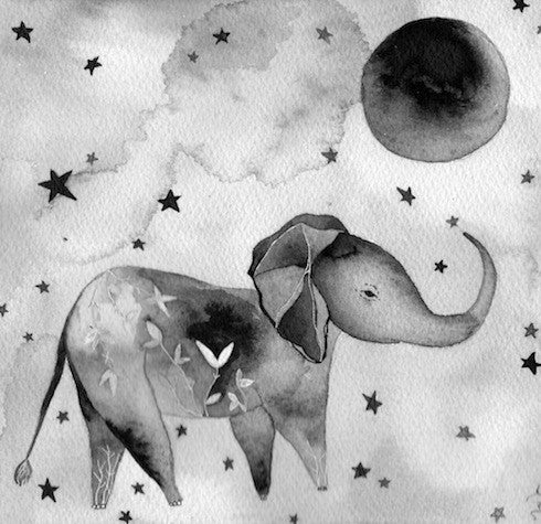 Elephant and Moon