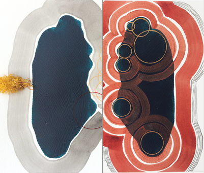 Innards Diptych No. 3 by Maria Gil Ulldemolins for $420