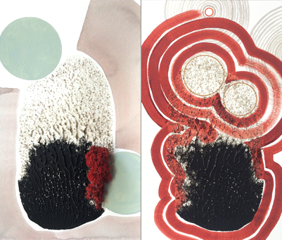 Innards Diptych No. 4 by Maria Gil Ulldemolins for $420