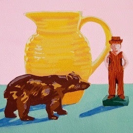 Pitcher-Bear-Man by Jane Schmidt for $275