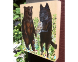 Bear, Wolf And Barn Owl come together