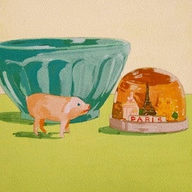 Bowl-Pig-Globe by Jane Schmidt for $275