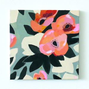 Poppies on Green by Katy Smail for $350