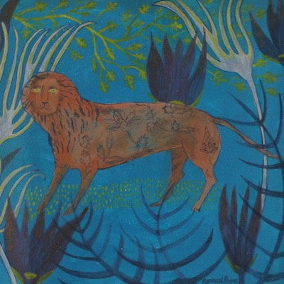 Folk Lion by Sarah Raphael Balme for $400