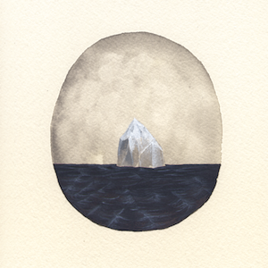 Monochrome Iceberg 3 by Rebecca Chaperon for $325