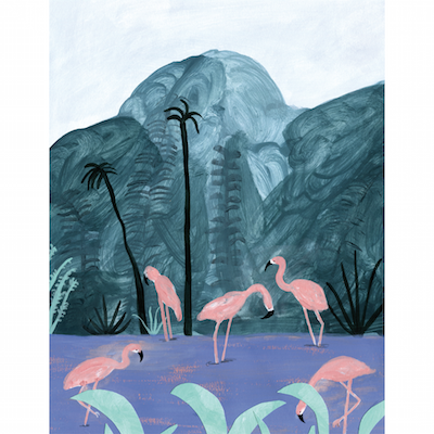 Pink Flamingos by Laura Kientzler for $400