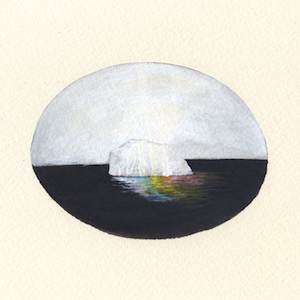 Rainbow Iceberg 2 by Rebecca Chaperon for $325