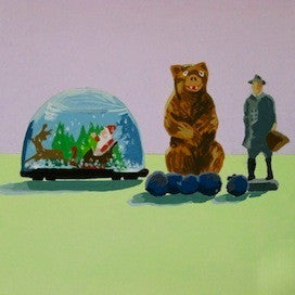 Globe-Bear-Man by Jane Schmidt for $275
