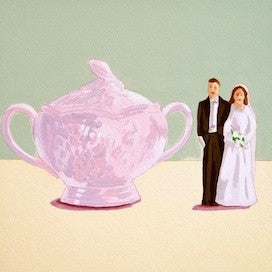 Sugar Bowl-Wedding Couple by Jane Schmidt for $275