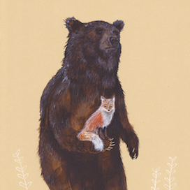 Bear and Fox by Drew Mosley for $250
