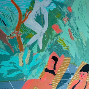 Poolside by Emma Louthan for $300