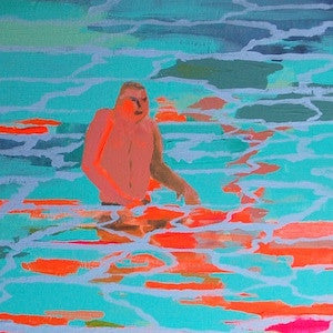 Wading Man by Emma Louthan for $300