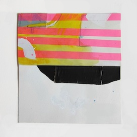 Yellow Dane with Washi Tape by Sarah Yoder for $125