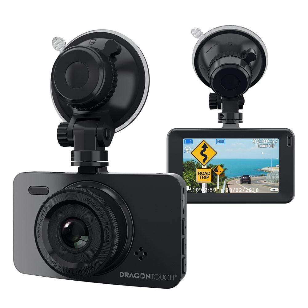 "Dragon Touch Dash Cam 1080P HD Car Camera 3"" LCD Screen 170° Wide Lens Dashboard Cam Recorder 
