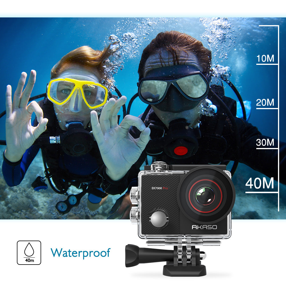 AKASO EK7000 Pro 4K Action Camera with Touch Screen