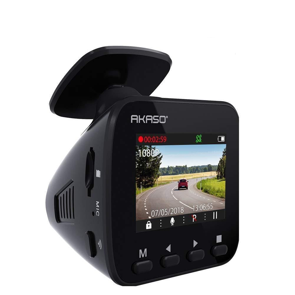 AKASO V1 Car Recorder, 1296P FHD, GPS, G-Sensor, WiFi with Phone APP, Night Vision, Loop Record, Parking Monitor | AKASO