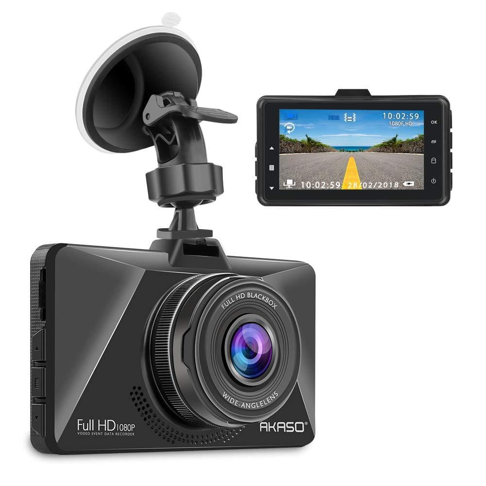 "AKASO C200 Dash Cam Car Dashboard Camera Recorder with 1080P Full HD 3"" LCD Screen 