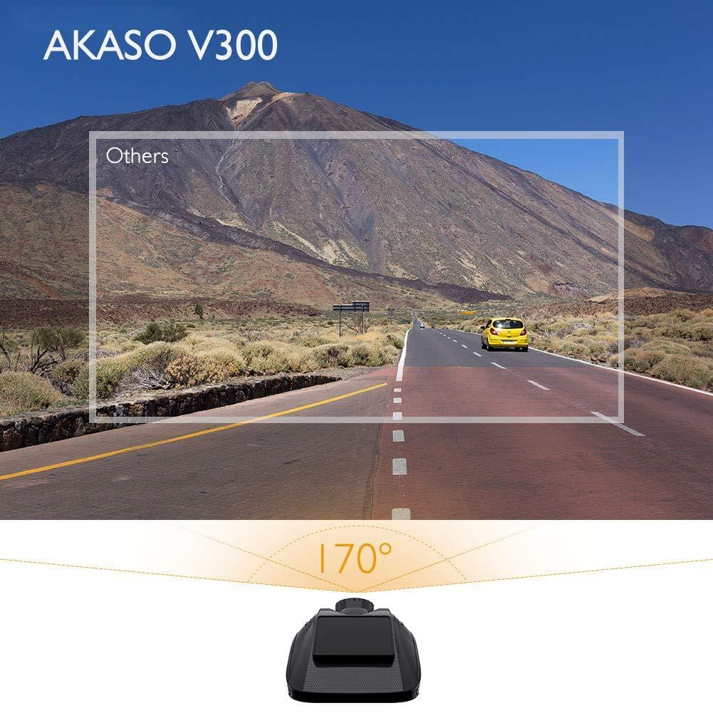 AKASO V300 1296P HD Dash Camera 170° Wide Angle Dash Camera for Cars with Super Night Vision G-Sensor Parking Monitor Loop Recording | AKASO