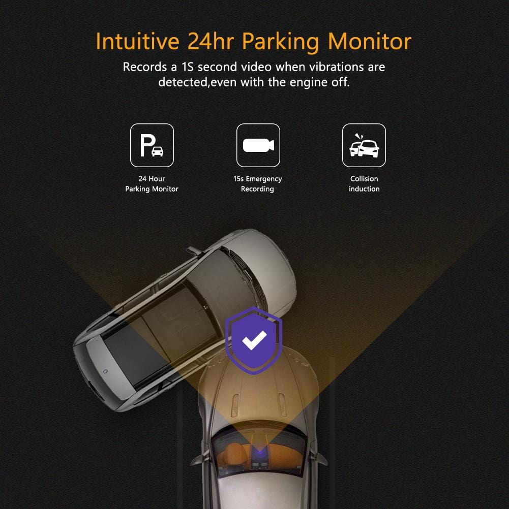 Dash Cam with 24 Hours Parking Monitor