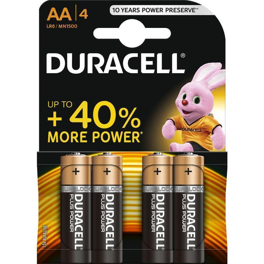 Batteries - Duracell AA Batteries (Pack Of 4)