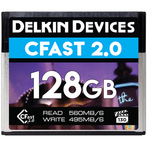 Delkin Devices 128GB Premium CFast 2.0 Memory Card