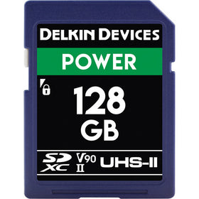 Delkin Devices 128GB Power UHS-II SDXC Memory Card