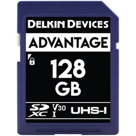 Delkin Devices 128GB Advantage UHS-I SDXC Memory Card