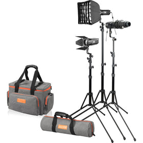 Godox S30-D Focusing LED 3-Light Kit