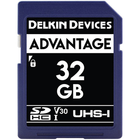 Delkin Devices 32GB Advantage UHS-I SDHC 633x Memory Card