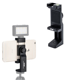 Mount Adapter Smartphone Tripod Holder Clip Clamp with Led Light
