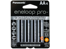 Panasonic Eneloop Pro AA Rechargeable NiMH Batteries ( 4-Pack)