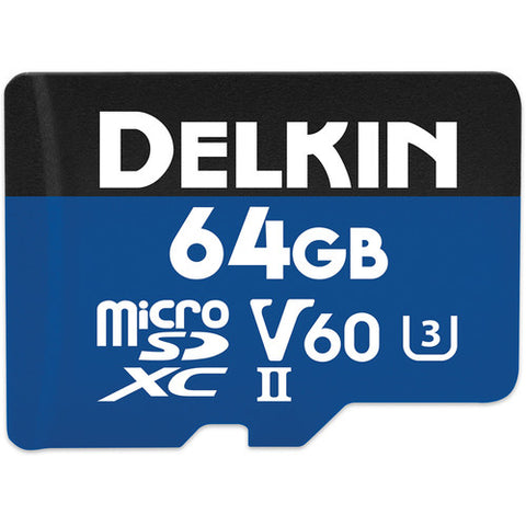 Delkin Devices 64GB Prime UHS-II microSDXC 1900X Memory Card