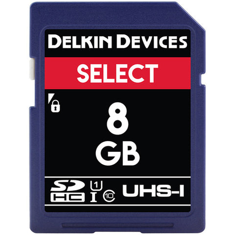 Delkin Devices 8GB SDHC UHS-1 163X Memory Card