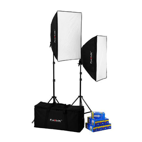 Fotodiox Pro CFL 3057 Compact Studio Continous Fluorescent Softbox Lighting Kit
