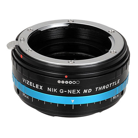 Fotodiox Lens Mount Adapter Nikon ND Throttle Sony Pro